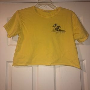 Yellow Crop Top by French Pastry